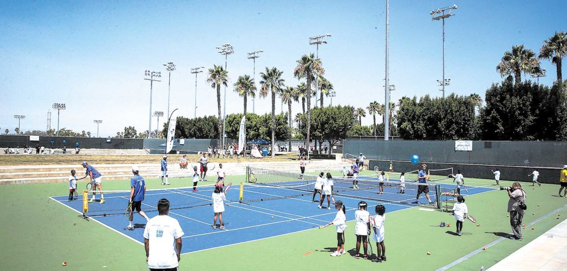 Manhattan Beach First Break Tennis'Returns the Serve'