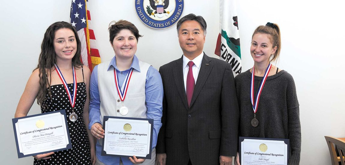 Three Hermosa girls given Rare Congressional Award