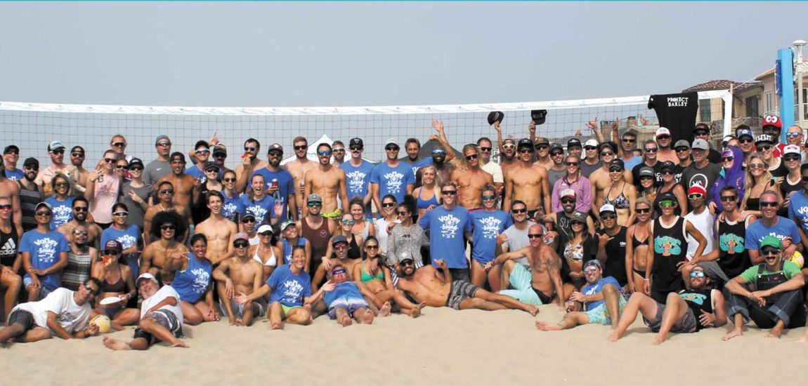 Charity volleyball tourney tries for silence on sand
