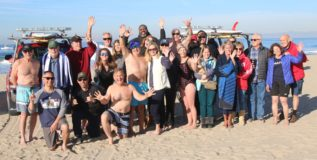 Beach people – Hermosa Polar Bear swim