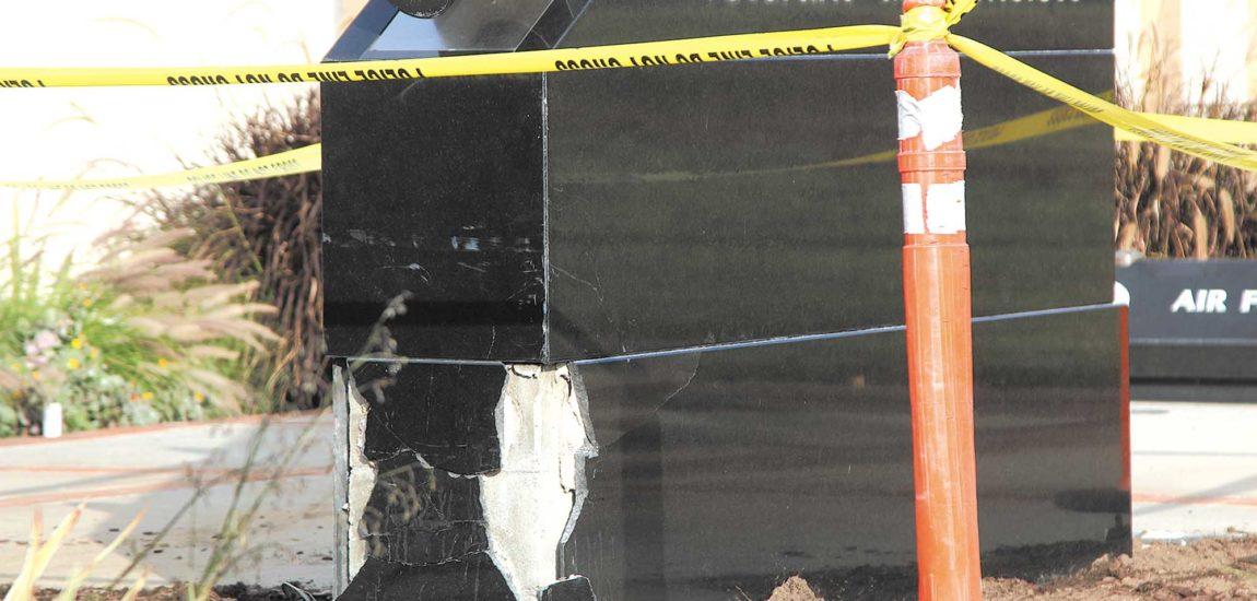 Two hurt in memorial car crash