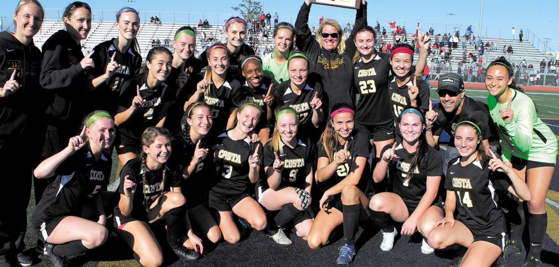 Coach Perkinson, Costa soccer  move on to State with CIF title