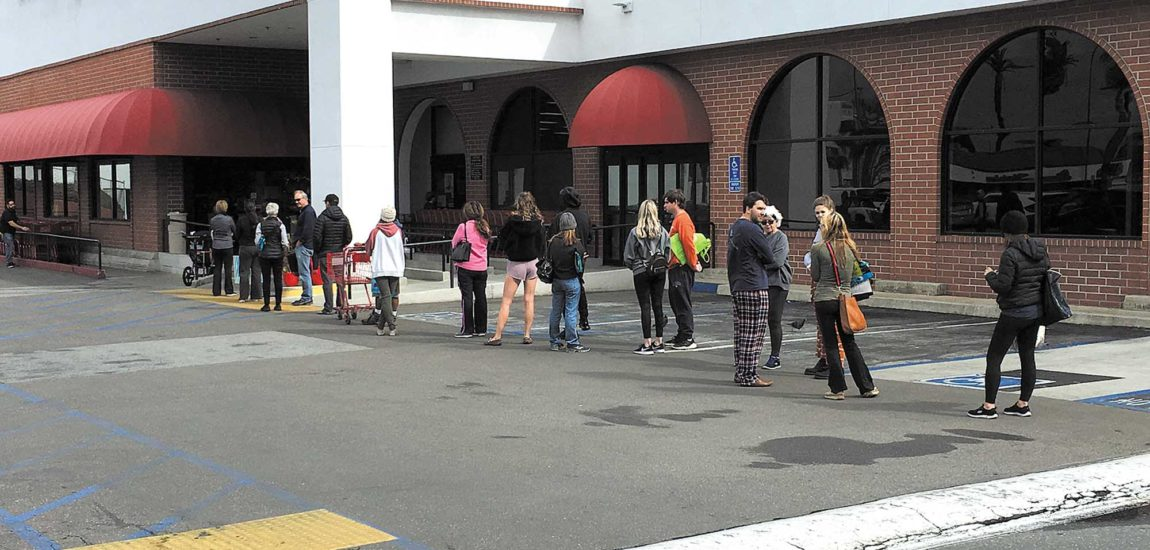Long lines, bare shelves at South Bay grocery stores