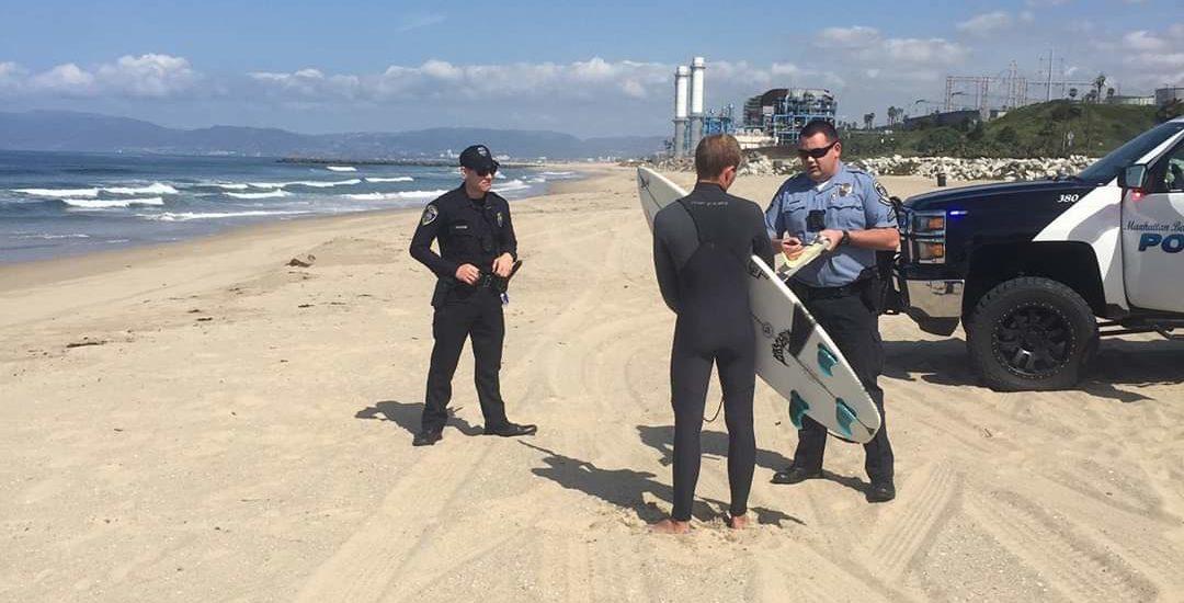 Manhattan Beach surfer issued possible $1,000 citation for violating beach closure order