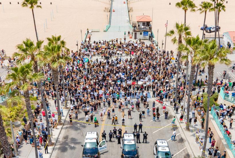 Protest portfolio: Black Lives Matter march from Manhattan Beach pier to Hermosa Beach pier