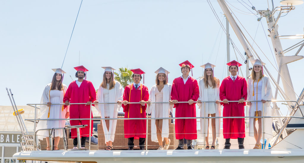 Redondo Union High 2020 grads celebrate with leap into the sea