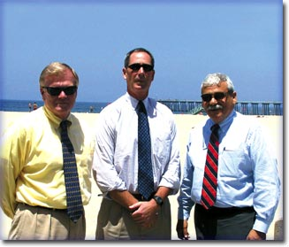 Hermosa Beach City Manager Steve Burrell deflected credit for rebuilding city