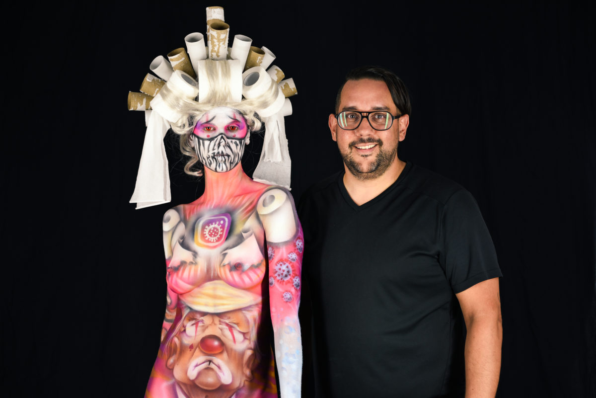 Body Painter Paul Roustan And The Year Of The Psychedelic Circus
