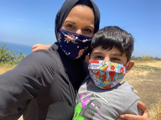 Face Covering mom_son