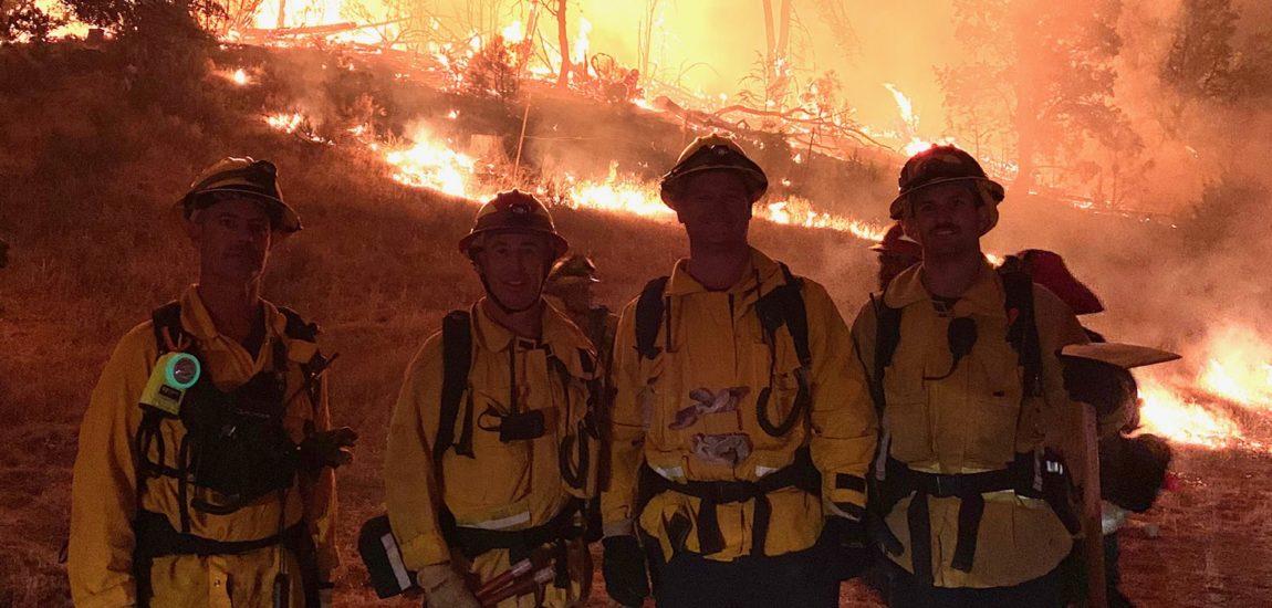 Manhattan Beach firefighters battle Creek Fire in Sierras