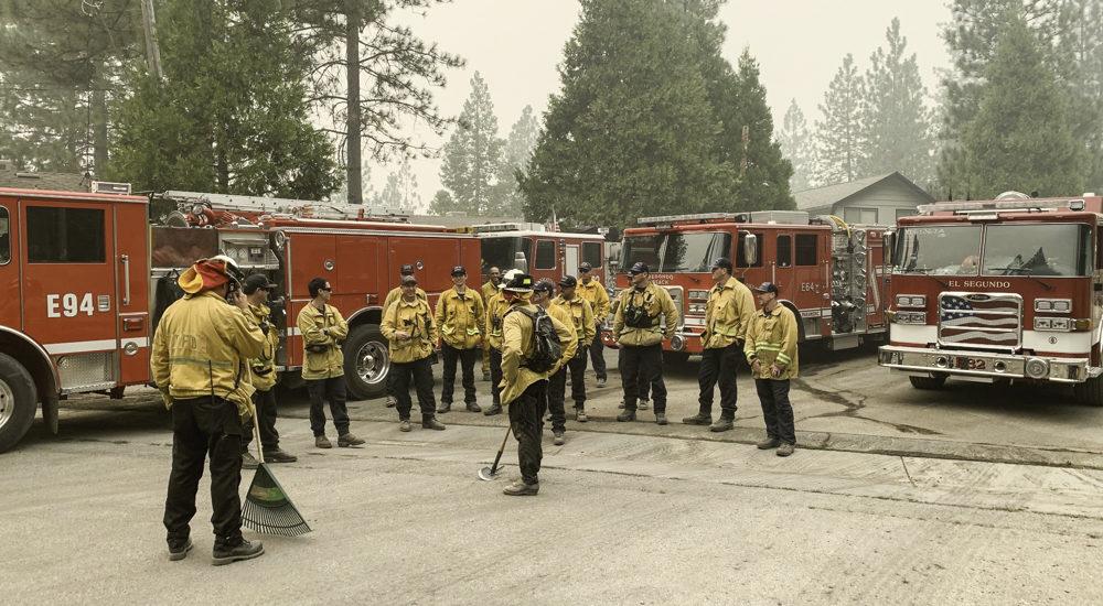 Redondo Beach firefighters battle Creek Fire in Sierras