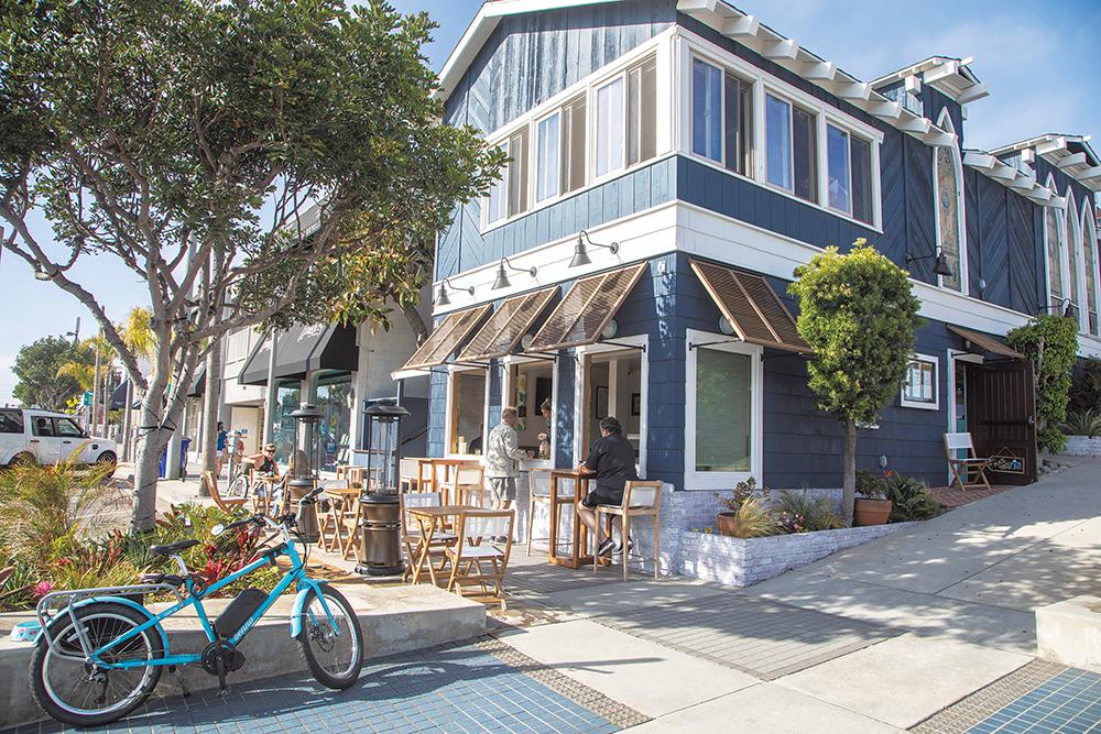 A leisurely meal at Sand Bar 66 in Manhattan Beach