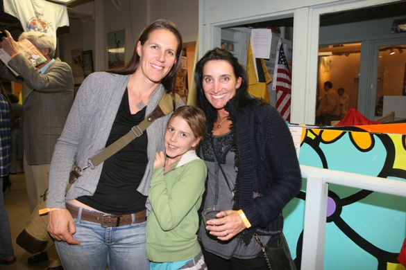 Sara Stratton with the daughter and Barbara Fontana.