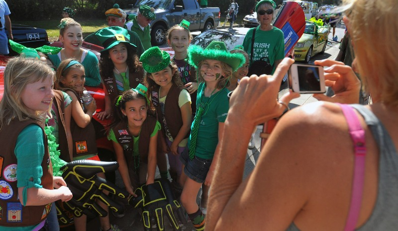 2. Olympic gymnast Gracie Gold with Girl Scouts