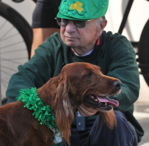 5. Neil Ricci of Irish Setters of So. Cal. with his dog Jordan