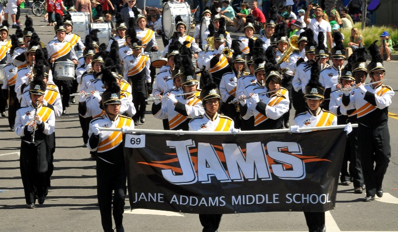 83. Jane Adams Middle School Marching Band