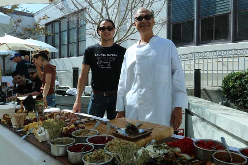 Laurel Tavern's Sage Adkins and Chef Roger Hayot.