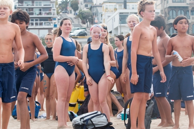 6f1b3ced878 ... Kirra Troeger lined up with several hundred other Los Angeles County  Junior Lifeguards hopefuls at the entrance to the Culver City Plunge.