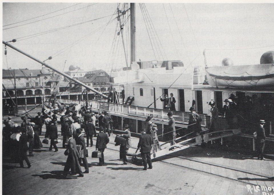 1920's Debarking Redondo Pier